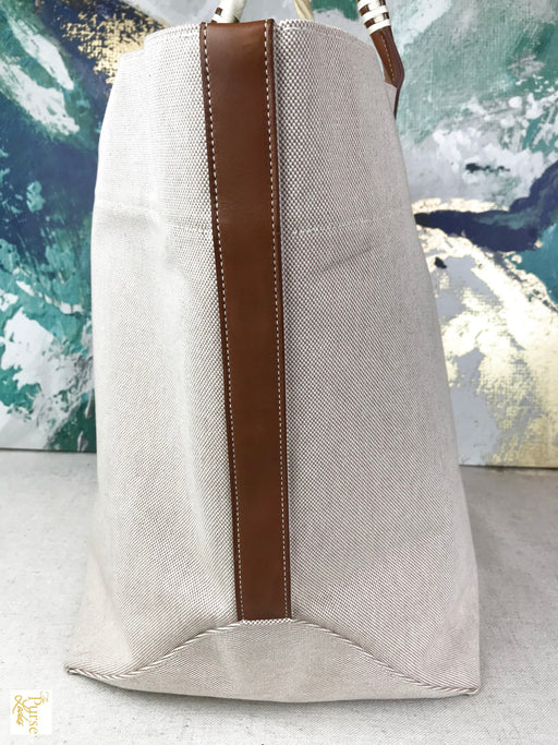 HERMES Sac Steeple Toile Canvas Tote Bag