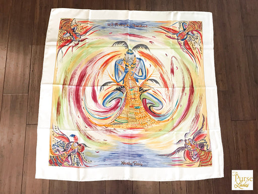 HERMES Multi-Color Silk Les Perles De Turkana Carre Scarf