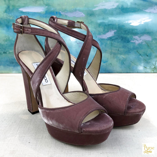 JIMMY CHOO April Platform Heels SZ 40.5