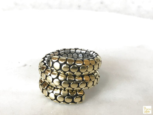 JOHN HARDY 18k Gold Double Coil Dots Ring