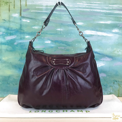 LONGCHAMP Purple Leather Hobo