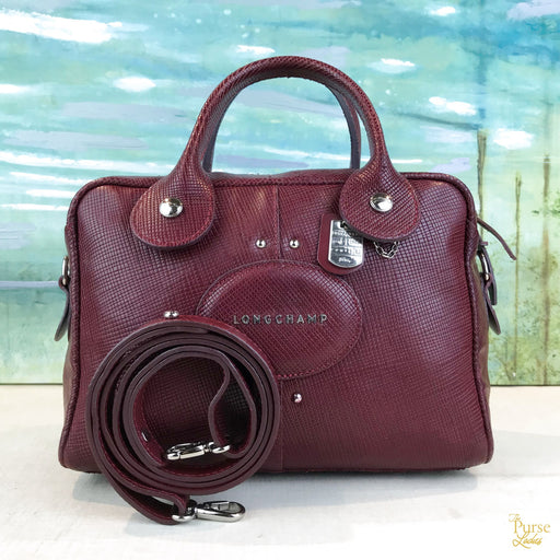 LONGCHAMP Red Quadri 2 Way Satchel