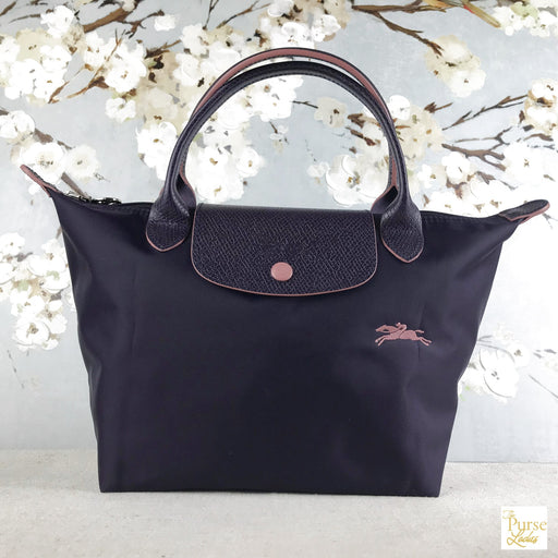 LONGCHAMP Purple Nylon Le Pliage Club Tote