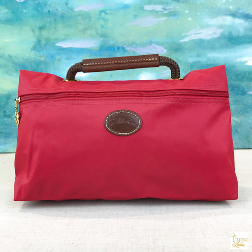 LONGCHAMP Red Nylon Cosmetic Bag