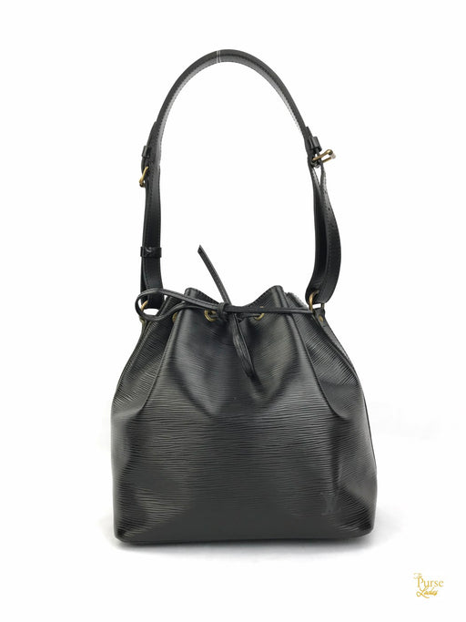 LOUIS VUITTON Black Neo Epi Leather Bucket Bag