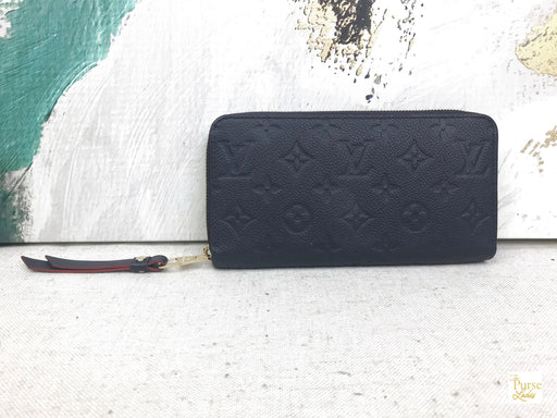 LOUIS VUITTON Marine Rouge Empreinte Zippy Wallet