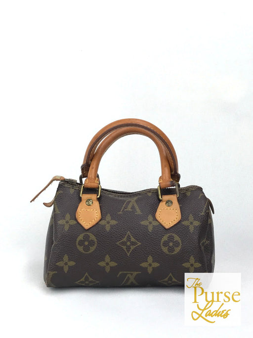 LOUIS VUITTON Brown Monogram Canvas Vintage Mini Speedy Satchel