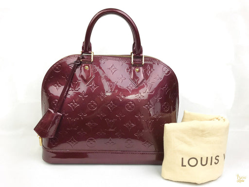 LOUIS VUITTON Rogue Faustive Red Vernis Alma PM Satchel