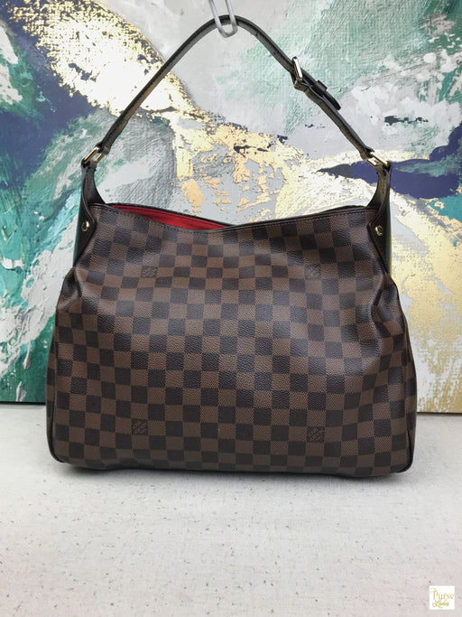 LOUIS VUITTON Brown Damier Ebene Canvas Reggia Hobo