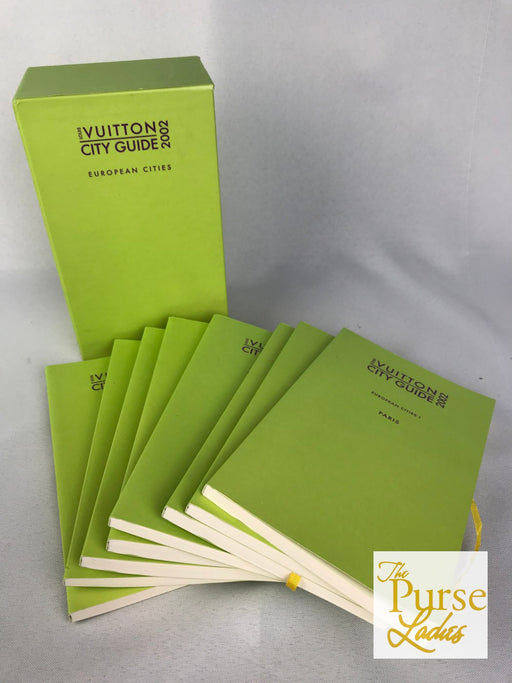 LOUIS VUITTON Lime Green 2002 City Tour Guides Set of 8 Books