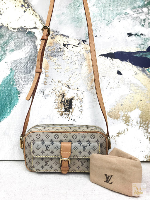 LOUIS VUITTON Gray Monogram Mini Lin Canvas Juliette Crossbody
