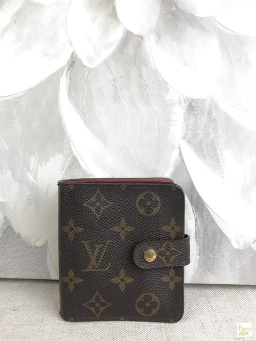 LOUIS VUITTON Brown Monogram Canvas Compact Wallet