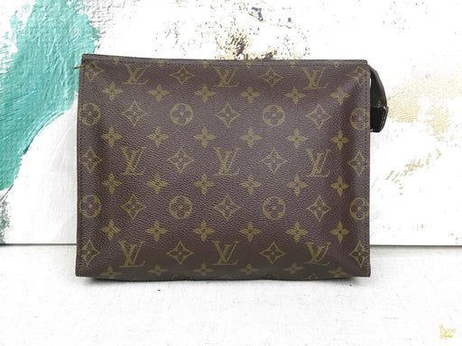 LOUIS VUITTON Brown Monogram Canvas French Company Toiletry 26 Pouch