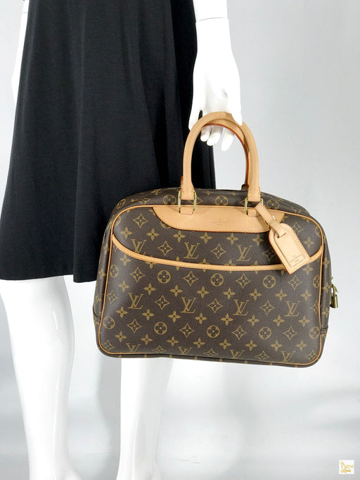 LOUIS VUITTON Brown Monogram Canvas Deauville Satchel