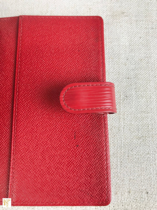 LOUIS VUITTON Red Epi Leather Agenda Cover