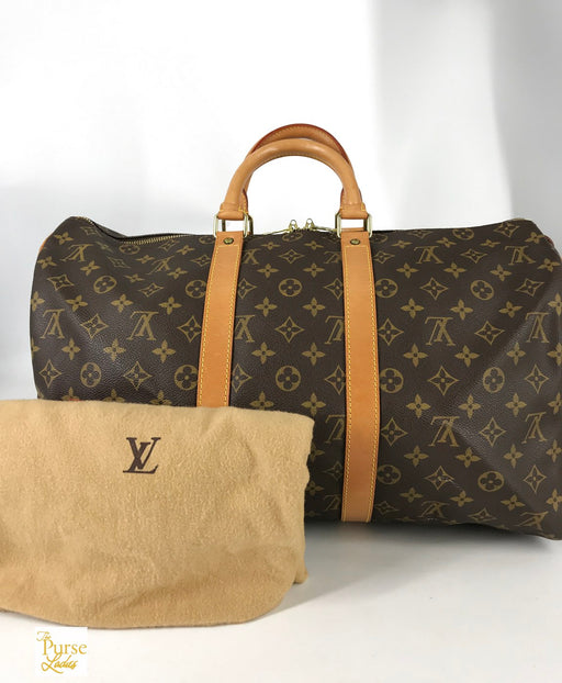 LOUIS VUITTON Brown Monogram Keepall 45 Duffle Bag