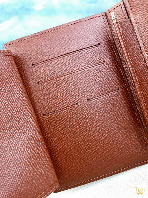 $650 LOUIS VUITTON Brown Agenda Notebook Cover Monogram Coated Canvas