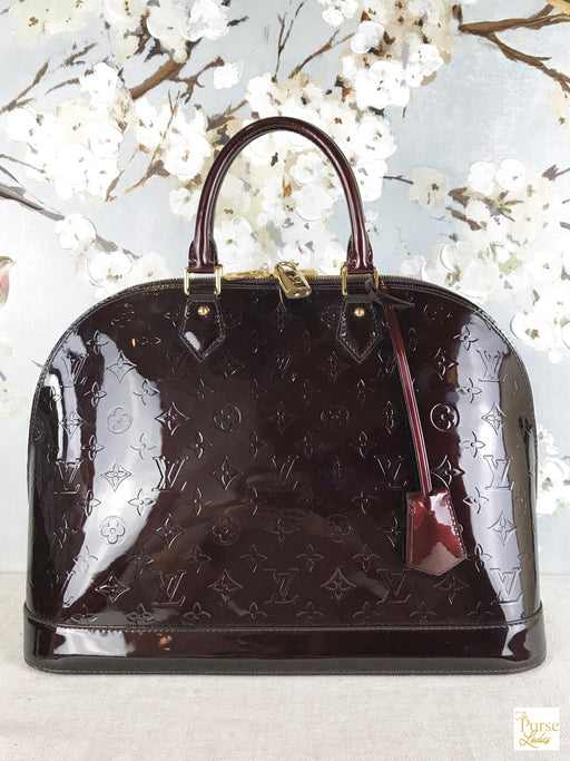 LOUIS VUITTON Vernis Amarnate GM Alma