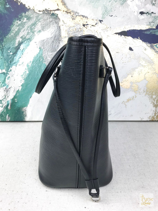Louis Vuitton Black Epi Leather Neverfull MM Tote