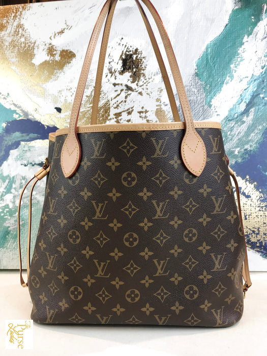 LOUIS VUITTON Brown Monogram Neverfull MM Tote