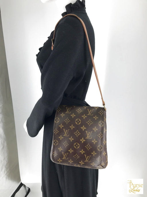 LOUIS VUITTON Brown Monogram Musette Salsa PM Shoulder Bag