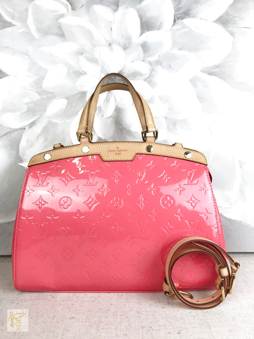 LOUIS VUITTON Pink Vernis Monogram Brea MM Tote