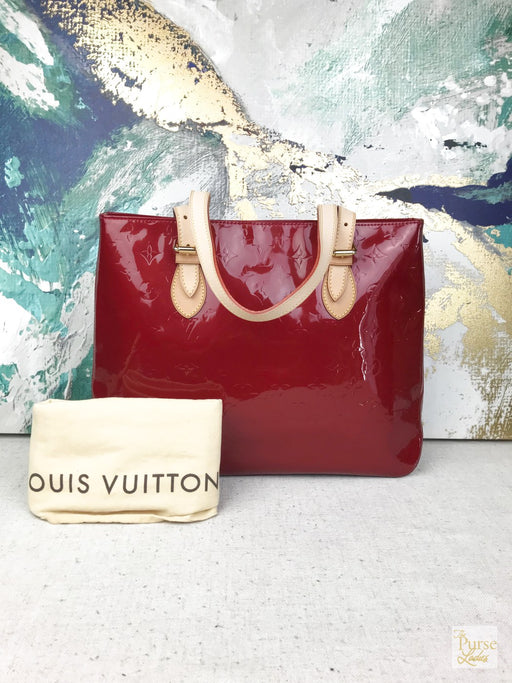 LOUIS VUITTON Brentwood Pomme D'amour Red Vernis Tote Shoulder Bag