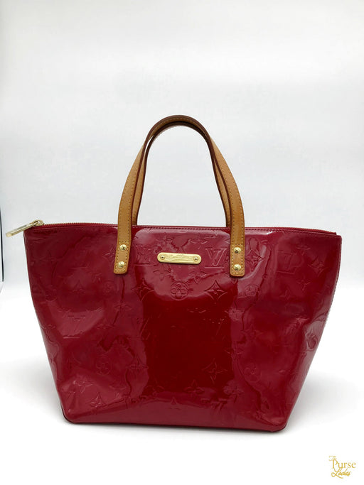 $1130 LOUIS VUITTON Bellevue PM Red Vernis Monogram Patent Leather Bag