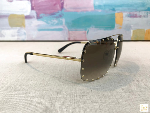 LOUIS VUITTON Gold The Party Studded Sunglasses