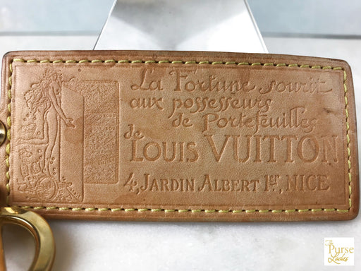 LOUIS VUITTON Natural Vachetta Leather Jardin Albert Key Chain