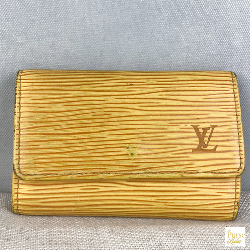 LOUIS VUITTON Yellow Epi Leather 6 Key Holder