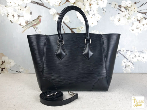 LOUIS VUITTON Black Epi Phenix PM 2 Way Tote