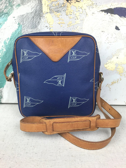 Louis Vuitton Blue Coated Canvas Sac San Diego 92' Cups Crossbody