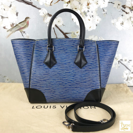 LOUIS VUITTON Blue Denim Epi Phenix PM Tote