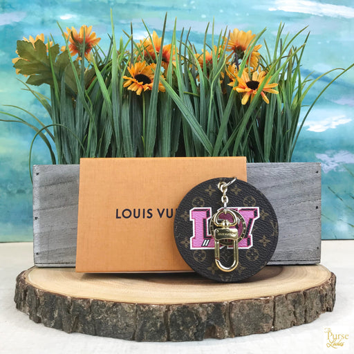 LOUIS VUITTON Monogram Stories Key Chain