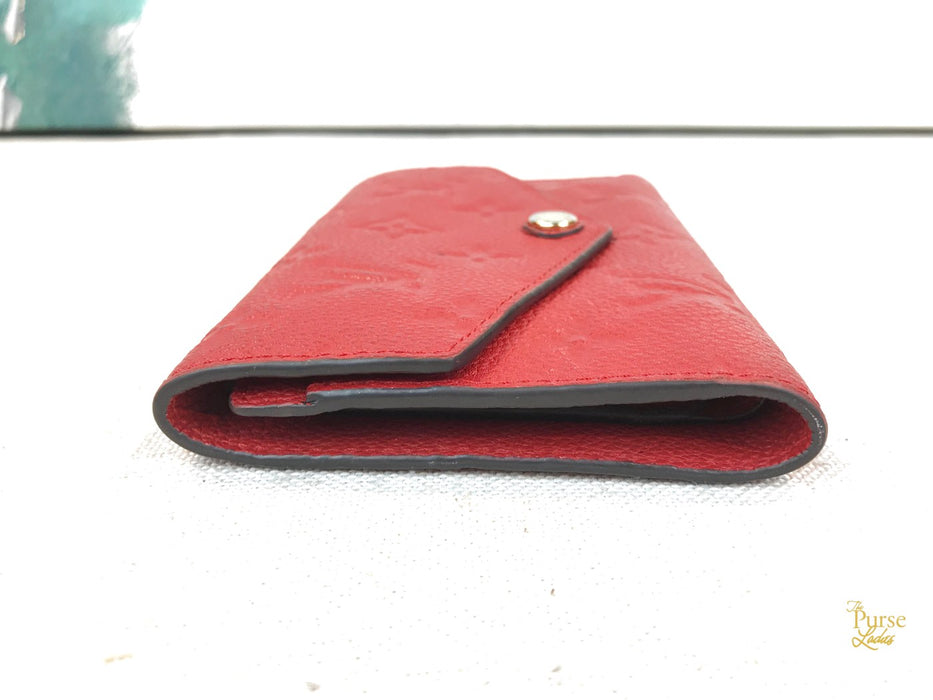 LOUIS VUITTON Red Empreinte Curieuse Flap Wallet Accessories