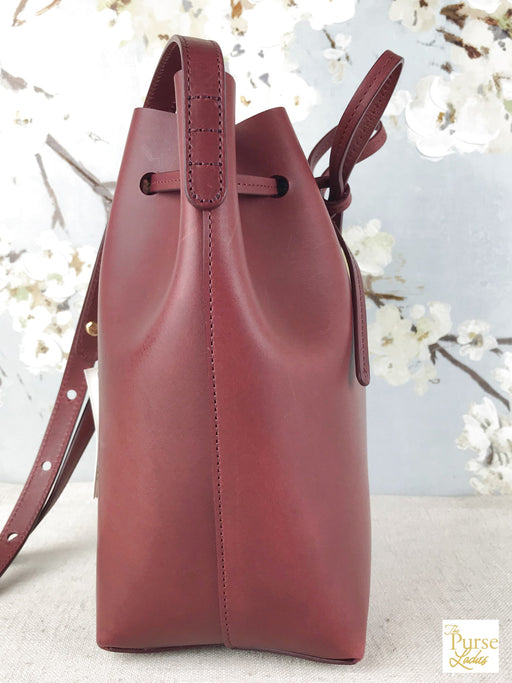 MANSUR GAVRIEL Red Leather Mini Bucket Bag