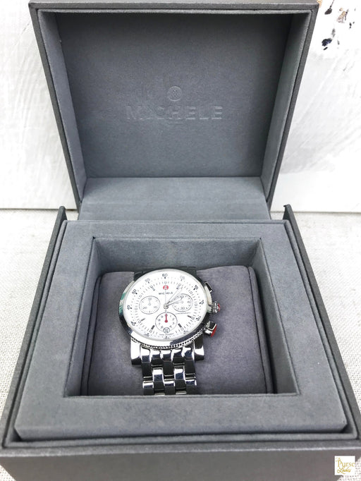 MICHELE Silver Stainless Steel Sport Sail Chronograph Watch