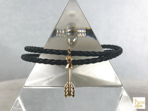 PANDORA Black Arrow of Cupid Double Wrap Bracelet