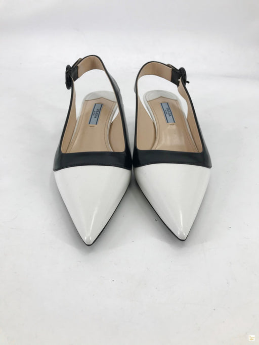 Prada Black and White Pointed Heels Sz. 39