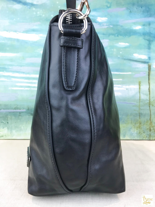 PRADA Black Leather Hobo
