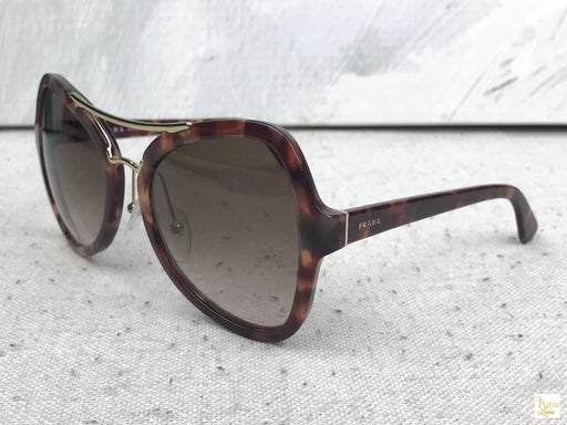PRADA SPR 18S Brown Tortoise Sunglasses