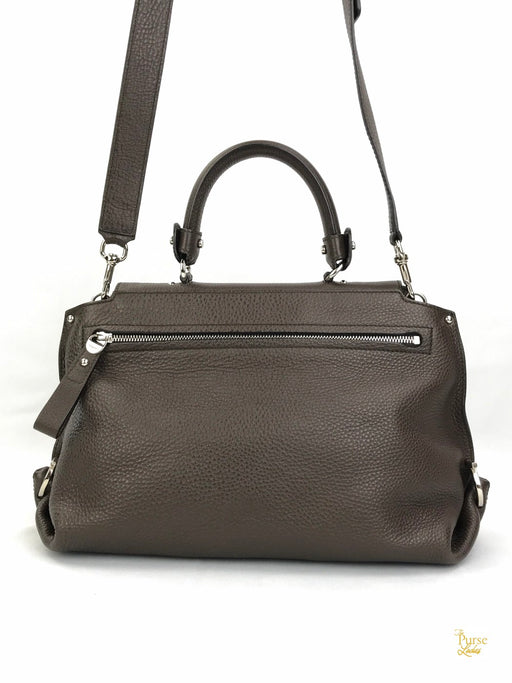 SALVATORE FERRAGAMO Brown Leather Shoulder Satchel Bag