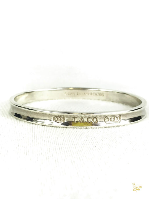 TIFFANY & CO. Sterling Silver 1837 Concave Narrow Bangle