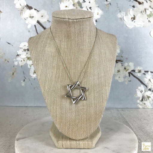 TIFFANY & CO. 925 Sterling Silver Elsa Peretti Star of David Necklace