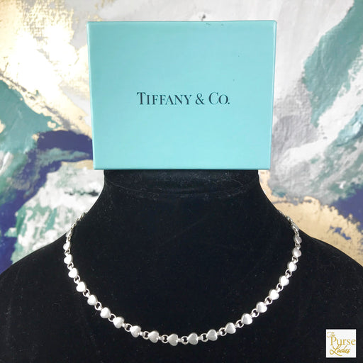 TIFFANY & CO. 925 Sterling Silver Heart Link Necklace