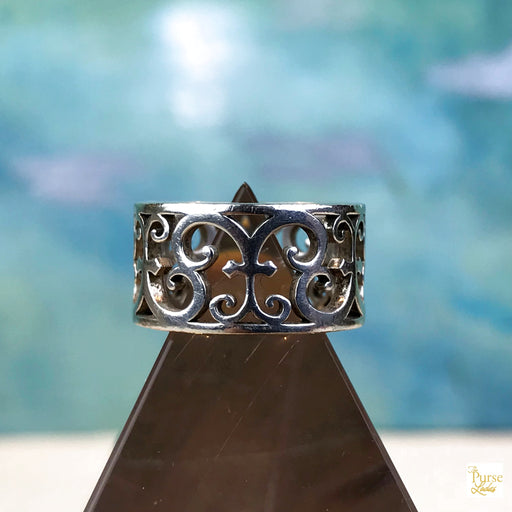 TIFFANY & CO. Silver Enchanted Scroll Ring SZ 5