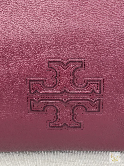 TORY BURCH New Burgundy Red Leather Harper Tote