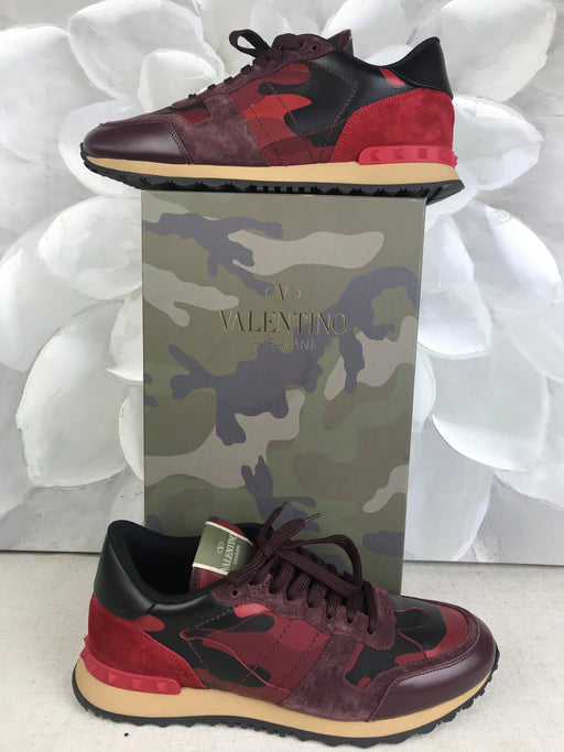VALENTINO Red Camouflage Rockrunner Men's Sneakers SZ 44
