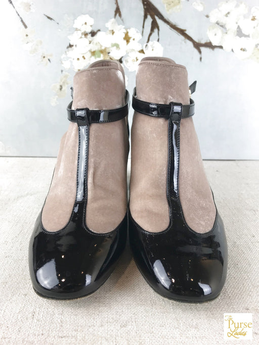 VALENTINO Black Patent Leather Mary Jane Pumps SZ 36